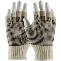 C119PDD-S Fingerless String Knit Gloves PVC Dotted Small