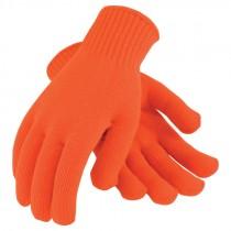 Orange Large Seamless Knit Acrylic Gloves