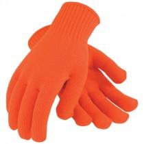 Orange X-Large Seamless Knit Acrylic Gloves