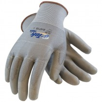 33-GT125-M SEAMLESS KNIT POLYESTERGLOVES URETHANE COATED MED