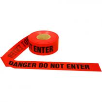 3 IN. X 1000 FT DANGER DO NOT ENTER TAPERED