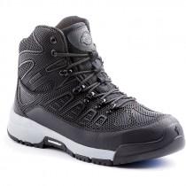 Banshee Steel Toe Work Boot, Black/Grey, Men's Size 8