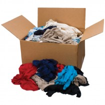 Recycled Colored Knit T-Shirt Rags - 25 LB. Case
