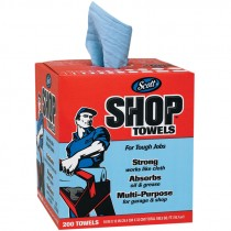"10"" X 13"" Scott® Shop Towels, Center Pull Box, Blue"