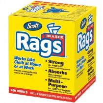 "10"" X 13"" Scott® Rags In-A-Box, Center Pull Box, White"