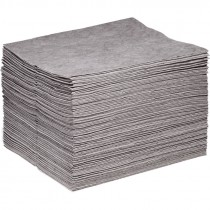 """15"""" x 18"""" Universal Commercial Grade Sorbent Pads, Heavy Weight (100 Per Bale)"""