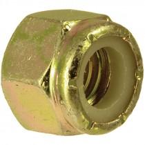 1/4-20 Grade 8 Zinc Yellow Plated Nylon Lock Nut