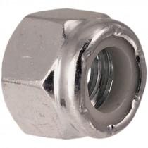 9/16-12 Grade 2 Zinc Plated Nylon Lock Nut