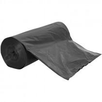 60 Gallon Heavy Grade Trash Bags, Gray, 1.1 Mil, Black, 100/BX