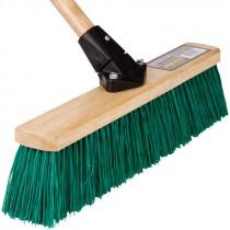 "18"" Stiff Green Flexsweep Broom Head"