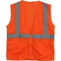 Class 2 Safety Vest - Orange Mesh, 3-XL