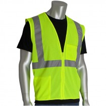 Class 2 Safety Vest - Lime Green Mesh - Medium