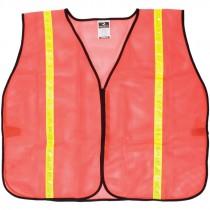 Non-Rated Safety Vest - Orange Mesh, Universal 2XL - 5XL