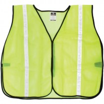 Non-Rated Safety Vest - Hi-Vis Yellow Mesh, Universal Small - X-Large