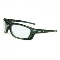 UVEX LIVEWIRE GLASSES CLEAR ANTI-FOG LENS - MATTE BLACK FRAME