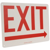 """10"""" x 14' Exit Sign with Right Arrow"""