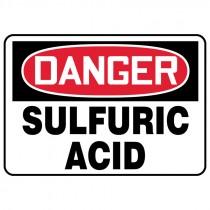 """7"""" x 10"""" Danger Sulfuric Acid Sign"""