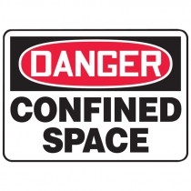 """7"""" x 10"""" Danger Confined Space Sign"""