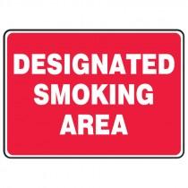 "7"" x 10"" Designated Smoking Area Sign"