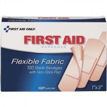"""1"""" x 3"""" Fabric Bandages 100/Box"""
