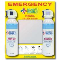 Aerosol Eye/Skin Wash Station, Includes (2) 7oz Bottles