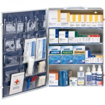 200 Person 1436pc ANSI Class B+ Type I & II First Aid Kit, With Medications, Metal Cabinet