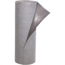 """32"""" x 100' Absorbent Floor Mat Roll, Adhesive-Back, Gray"""