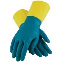"12"" 28 Mil. Neoprene Over Latex Chemical Glove, Embossed Grip, Flock Lined, Large"