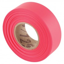 """1-3/16"""" x 50 Yd Flagging Tape - Flourescent Red"""