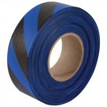 "1-3/16"" x 100 Yd Flagging Tape - Blue/Black Stripe"