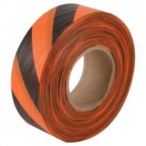"1-3/16"" x 100 Yd Flagging Tape - Orange/Black Stripe"