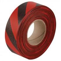 "1-3/16"" x 100 Yd Flagging Tape - Red/Black Stripe"