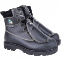"""Foundry Worker's 8"""" Work Boot, Met-Guard, Composite Toe, Puncture Resistant Sole, Black"""