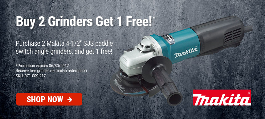 Makita Grinder - Buy 2 Get 1 Free