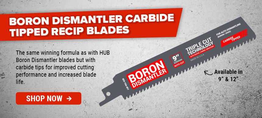 HUB Boron Dismantler Carbide Tipped Recip Blades