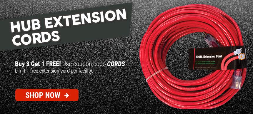 HUB Extension Cords Buy 3 Get 1 Free