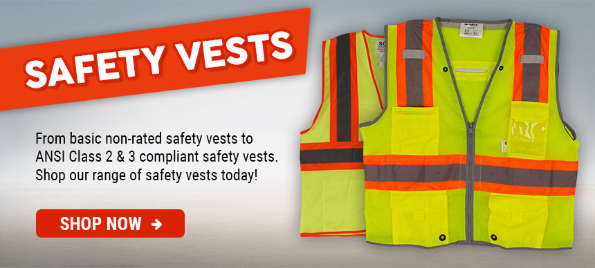 Shop our large range of hi-vis safety vests today