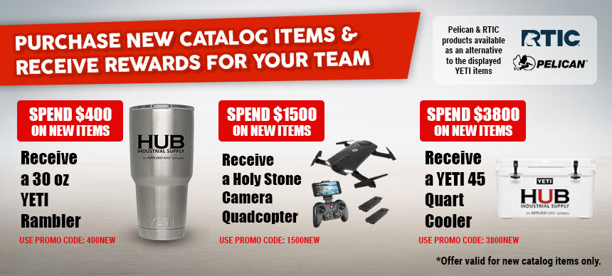 Purchase new catalog items and receive rewards for your team